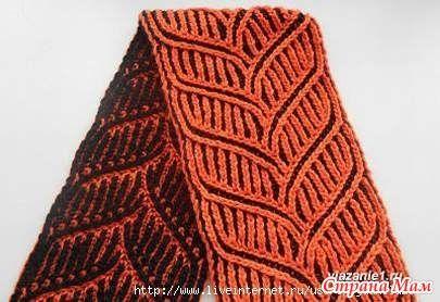 Очень интересная техника позволяет создавать разные узоры... Для тренировки простой шарфик Уроки вязания в технике бриошь от Оксаны Голдабиной