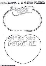 Resultado de imagen de dibujo para imprimir sobre imágenes de familias