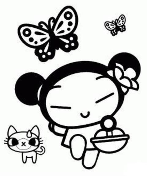 coloring pages of pucca - photo#22