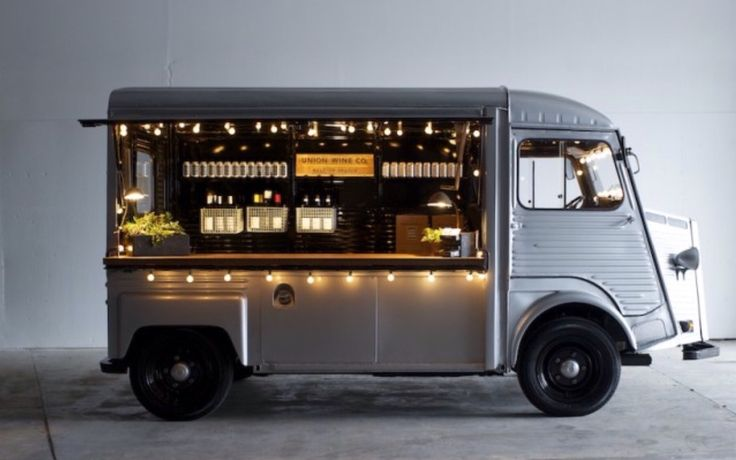 Union wine company mobile vehicle in Portland. This is great.