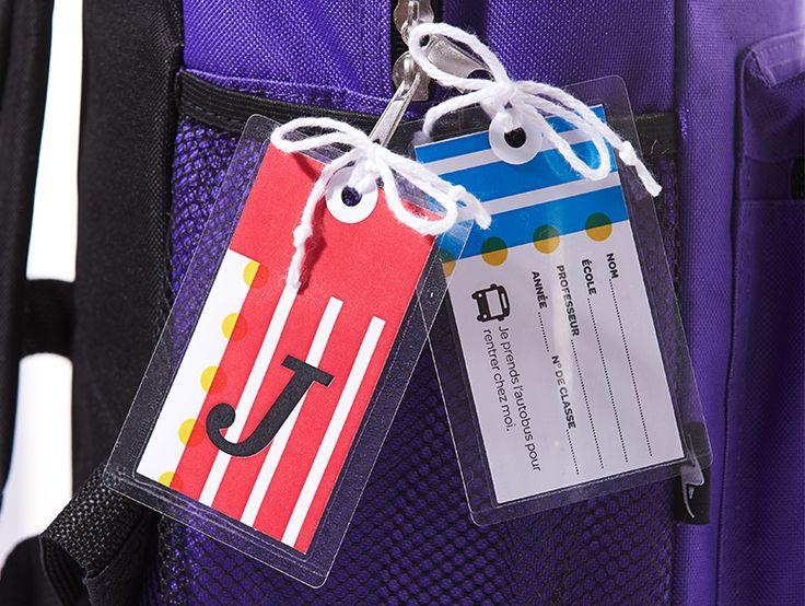 Comment fabriquer une étiquette à monogramme pour sac à dos
