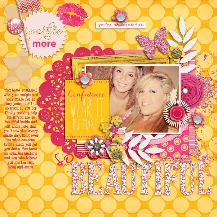 Bubblegum Beauty by Juliana Kneipp and Robin Carlton http://www.sweetshoppedesigns.com/sweetshoppe/product.php?productid=28199&cat=0&page=1 Font: KB Red Tiny Whale