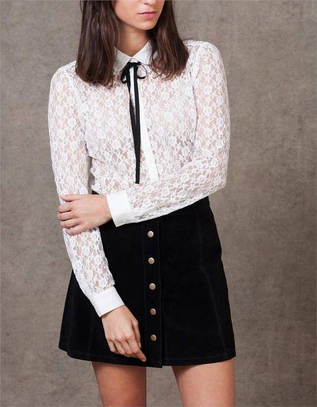 Camisa Feminina de Renda Branca - Compre Online | DMS Boutique