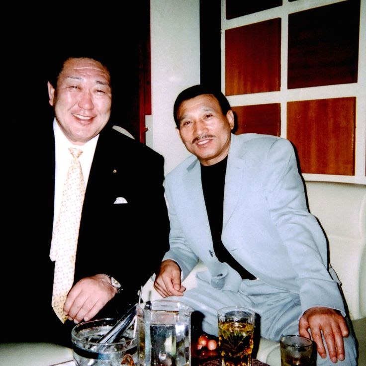 This May Be the Most Dangerous — and Most Costly — Photo In Japan. Hidetoshi Tanaka (left), the chief director of Japan University and the vice chairman of Japan's Olympic Committee. Sitting next to Tanaka is Shinobu Tsukasa, the head of Japan's largest yakuza syndicate, the Yamaguchi-gumi.