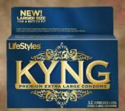 LifeStyles KYNG Extra Large Condoms