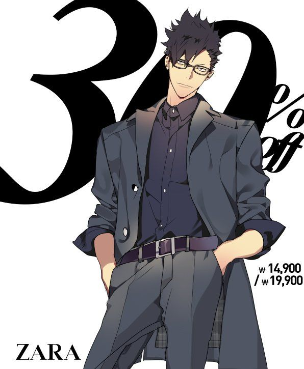 Kuroo being the model he was born to be