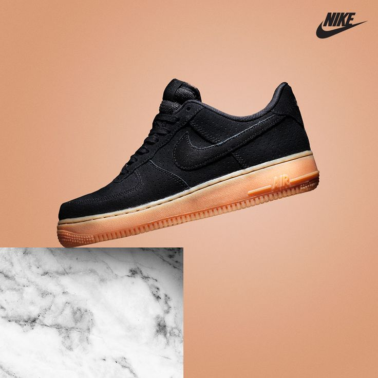 nike womens air force 1 '07 trainer black \/gum medium bobs for black