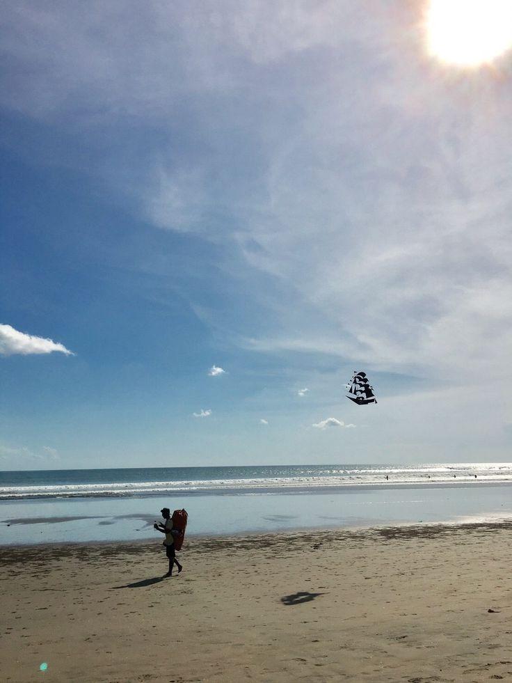 バリ島の凧揚げ