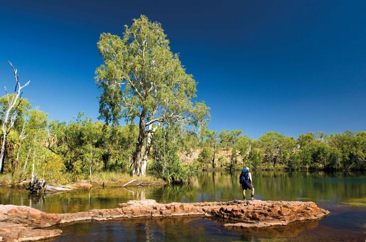 The Northern Territory's Jatbula Trail encompasses stunning scenery, refreshing waterfalls and Jawoyn rock art.