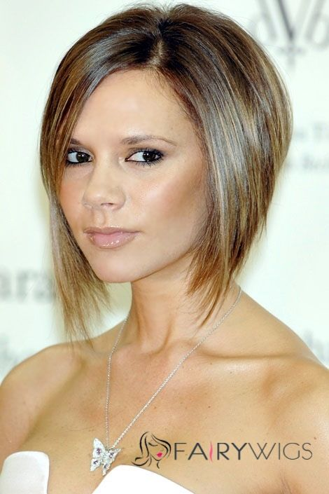 Whole Silk Top Short Brown Lace Front Celebrity Hairstyle 100 Human Hair Fairywigs