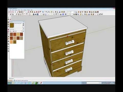 Furniture Design In Google Sketchup Tutorial By Rahgsa0509   YouTube