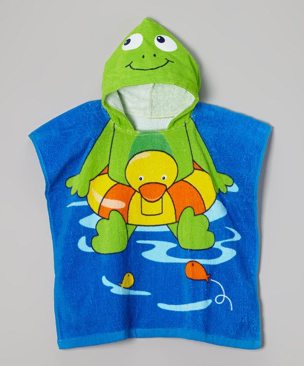 Look at this Vitamins Baby Green Frog Hooded Towel on #zulily today! This one is adorable!!!