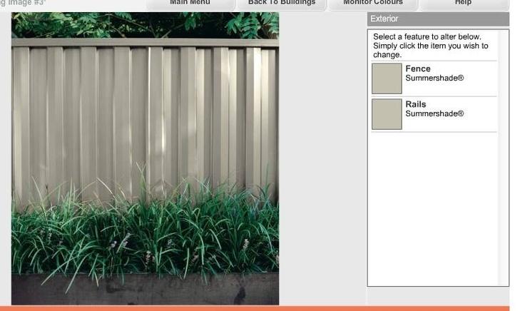 Colorbond Summershade Fence Colour Fences Pinterest