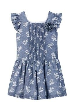 Ditsy Floral Chambray Dress (Little Girls)