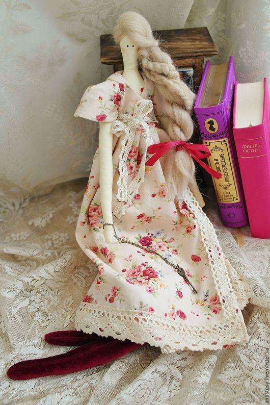Tilda muñeca hecha a mano.  Masters justas - hecho a mano.  Comprar muñeca Tilda Dzheyn Bennet de Orgullo y prejuicio.  Hecho a mano.