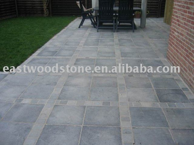 Patio Paving | Patio Paving Tile Photo, Detailed about Gray Limestone Patio Paving ...