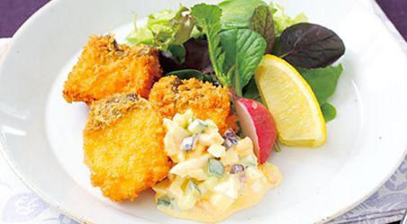 塩糀白身魚フライ 漬物カリカリ タルタルソース