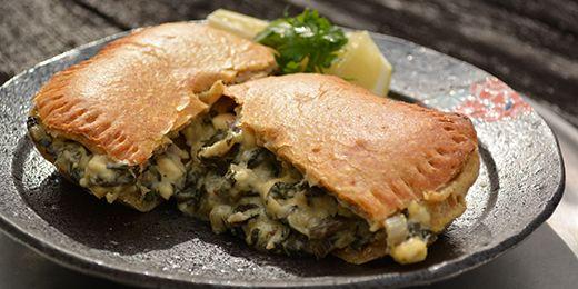 Smoked fish pies with potato pastry