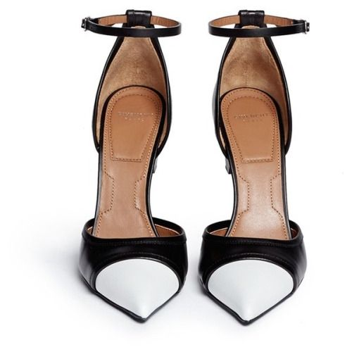 Givenchy Screw heel contrast toe leather pumps ($1295)