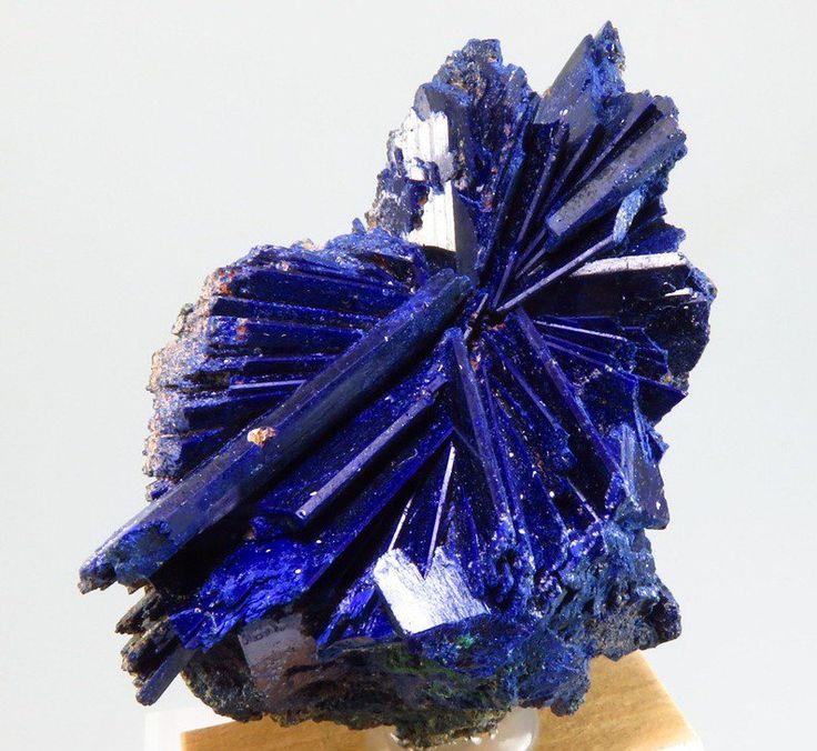 Radiating crystals of Azurite --- Touissit Mine, Jerada Province, Morocco
