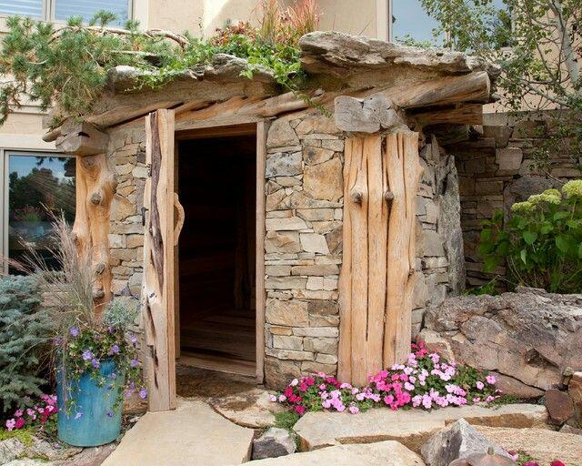 Rustic sauna idea