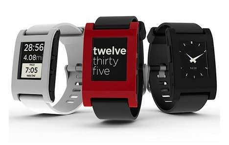 Smartphone-Controlled Timepieces  Receive Mobile Notifications On-the-Go with the Pebble Watch #watched #smartphone #accessories