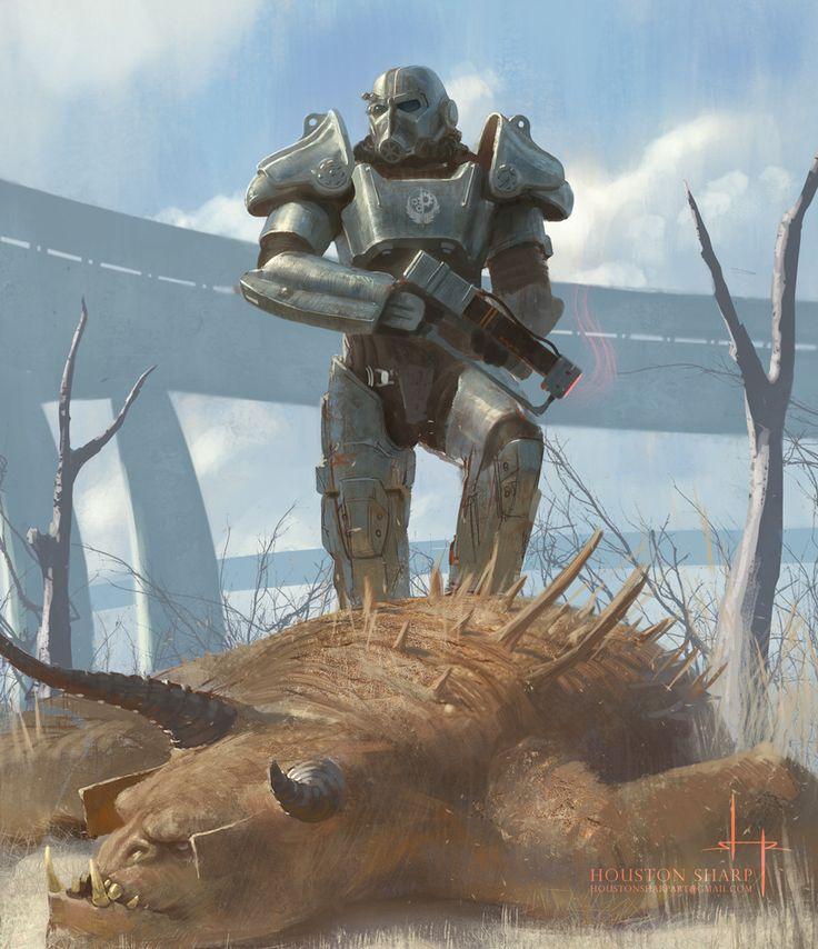 Deathclaw, Houston Sharp on ArtStation at https://www.artstation.com/artwork/ndGge