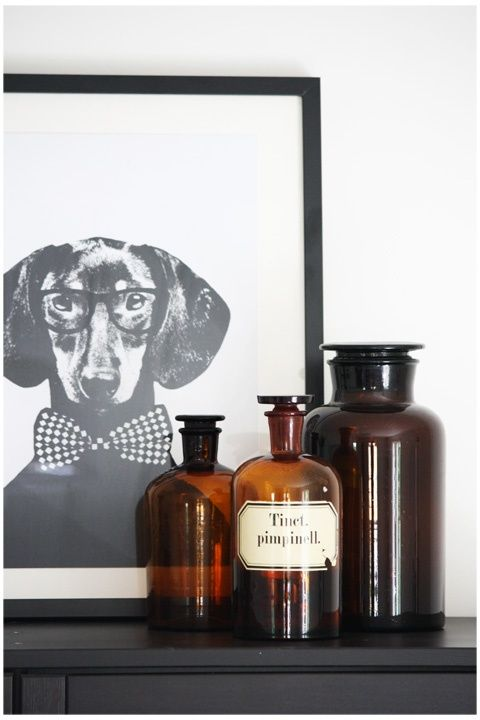 Interieur trends   Laboratorium & apothekers flessen als vazen • Stijlvol Styling - Woonblog