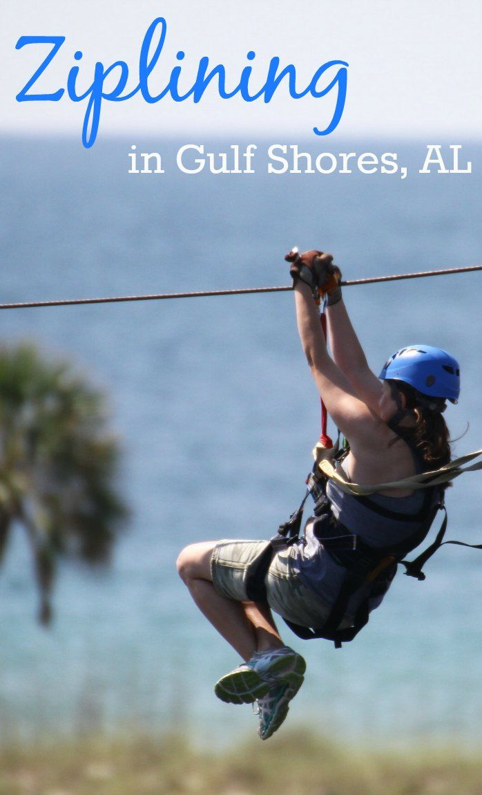 Ziplining in Gulf Shores Alabama with Hummingbird Ziplines at Gulf Adventure Center