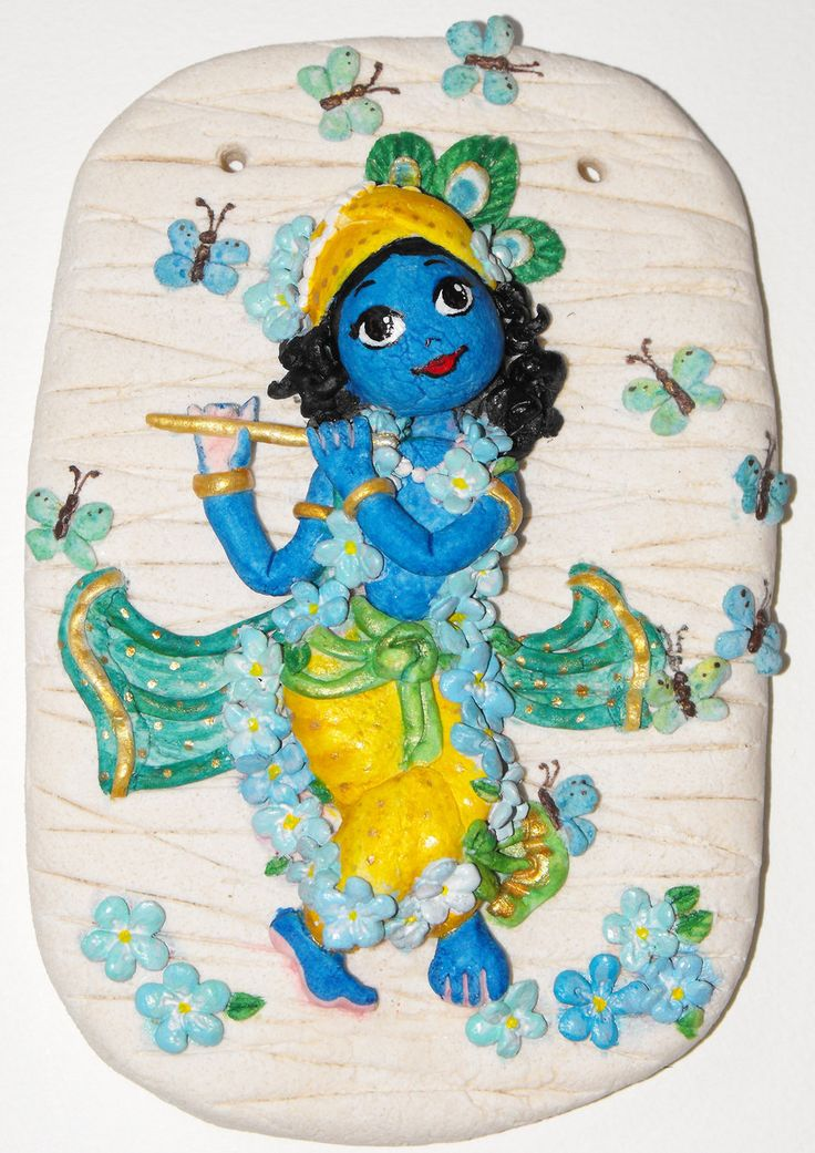 Salt dough Krishna by candrika108.deviantart.com on @DeviantArt
