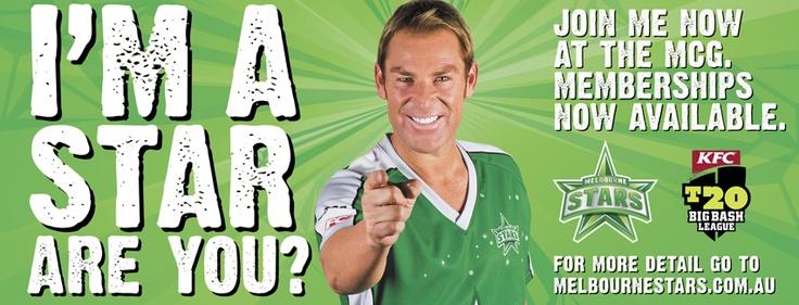 Melbourne Stars Big Bash League Cricket Team membership advert