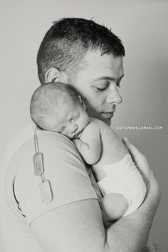 military father holding newborn photoshoot - Google Search