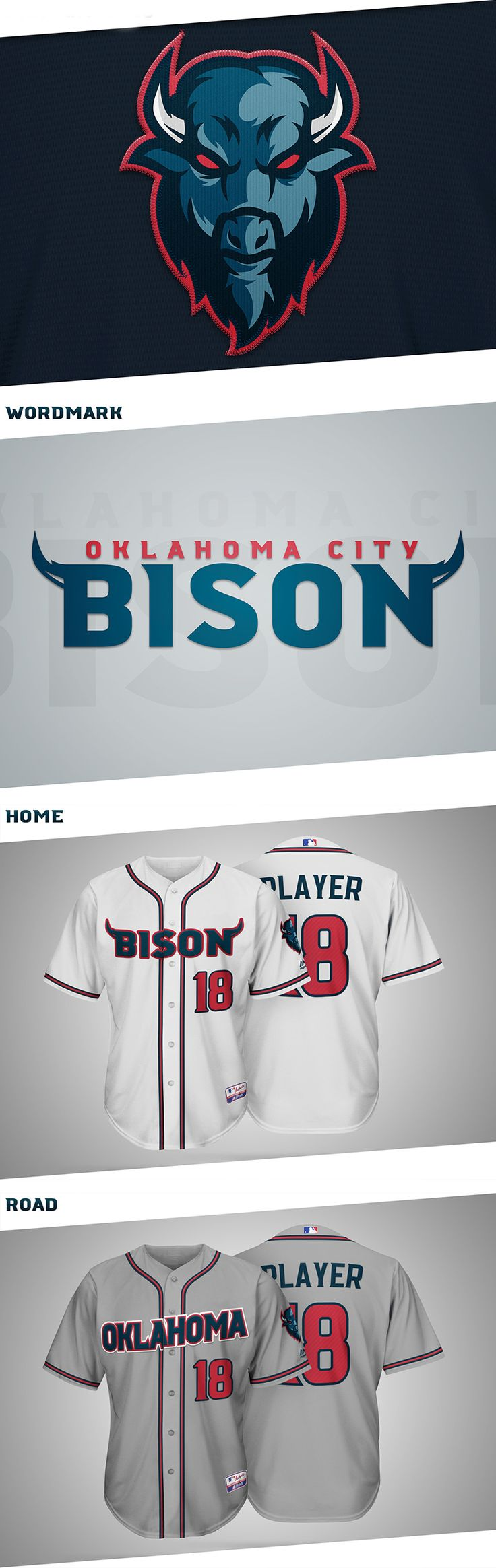 OKC Bison MLB Expansion Team Concept by Ryan Lane