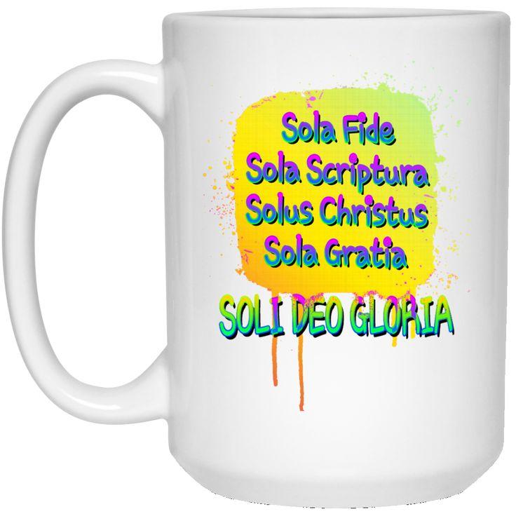 5 SOLAS OF THE CHRISTIAN REFORMATION 21504 15 oz. White Mug