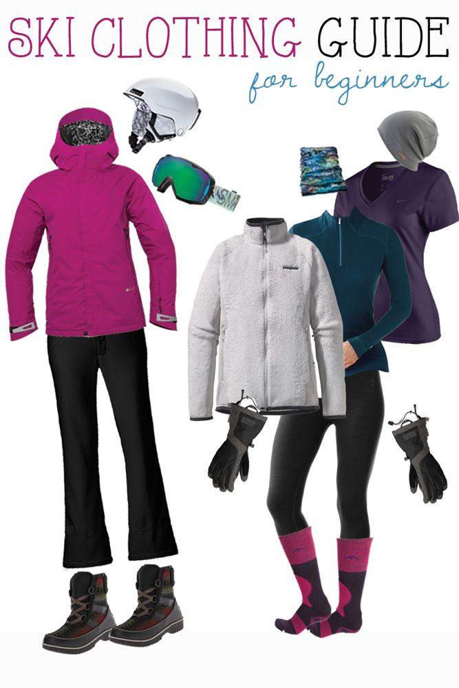What to wear skiing - a winter newbie's guide to staying warm, dry, and comfortable on the slopes. #skiing #winter #outdoors