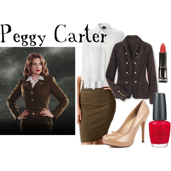"""""""Peggy Carter"""" by companionclothes on Polyvore....love love loves!!!"""