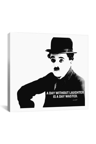 Canvas Print: Charlie Chaplin Quote