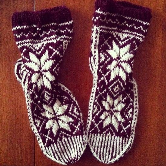 Mum's Christmas Socks #diy #kollabora #knitting #socks