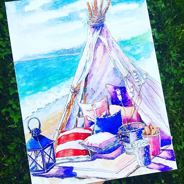 Одна из маленьких радостей - побыть на берегу моря Конкурс Маленькие радости для @topcreator и @la__paloma #tcjoy #inspiring_watercolors #kalachevaschoolalumni #kalachevaschool #скетчбук #скетч #акварель#рисую#море#lk_sketchflashmob #sketchbook#sketching #sketchaday #sketch_daily #sketchoftheday #sea#beach#worldofartists #illustration #illustrationoftheday #watercolor#penandwash