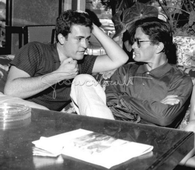 Pier Paolo #Pasolini and Bernardo Bertolucci # Cinema exhibition of Venice (1962)