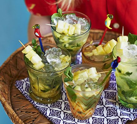 Though traditionally made with limes, the national cocktail of Brazil can also be made with pineapple or passion fruit