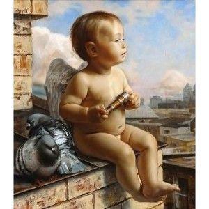 """""""Малыш-ангел"""", Алмазная вышивка"""