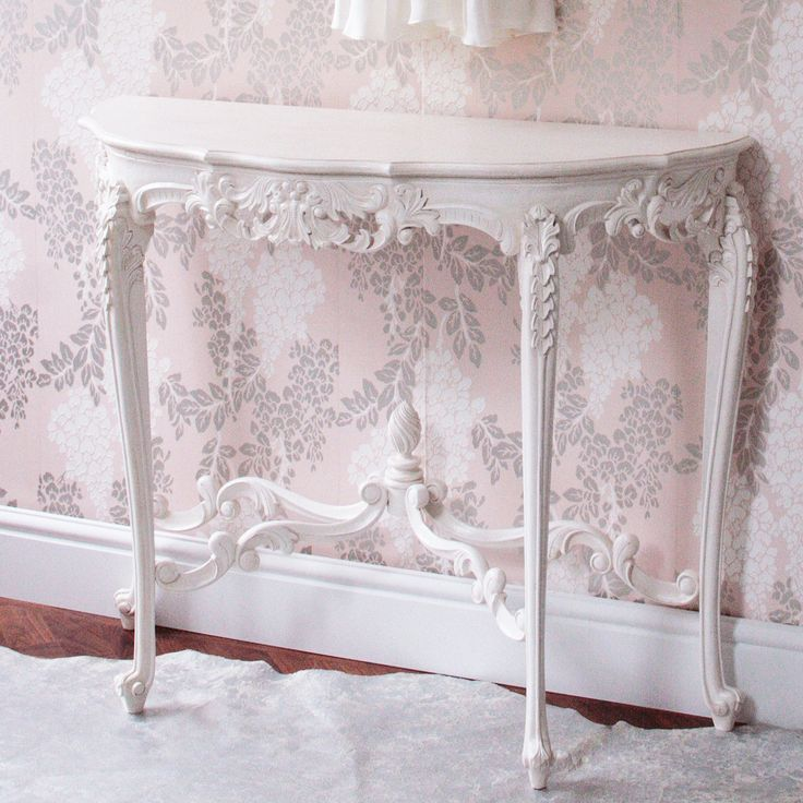 Provencal Marie Antoinette White Console Table|Console Tables|Tables|French Bedroom Company
