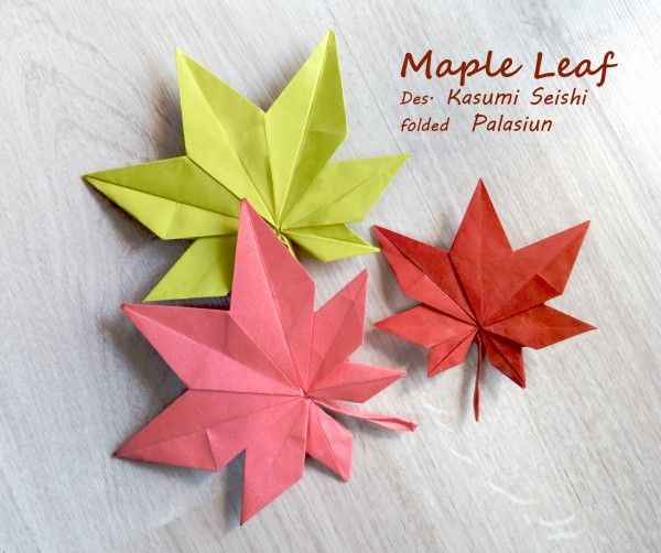 429 best origami leaves images on pinterest leaves