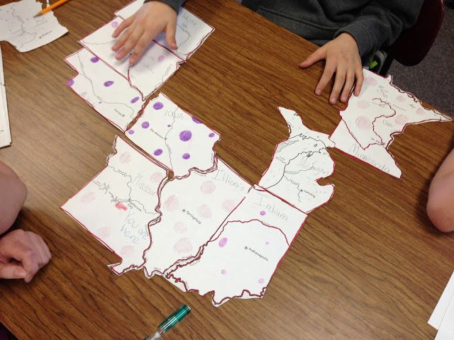Introduction activity: Use an old map from just before the Civil War started (West Virginia didn't exist). Don't alert students to the differences. Cut apart states and have students assemble like a puzzle. Life is Better Messy Anyway: