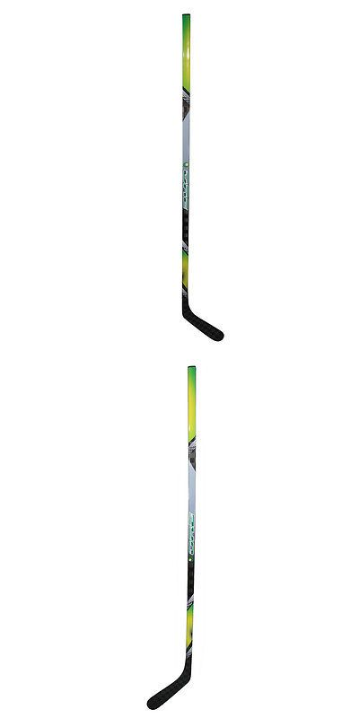 Other Hockey Clothing and Gear 165934: Adult 67-Inch Grey/ Yellow Ice Hockey Stick BUY IT NOW ONLY: $225.99