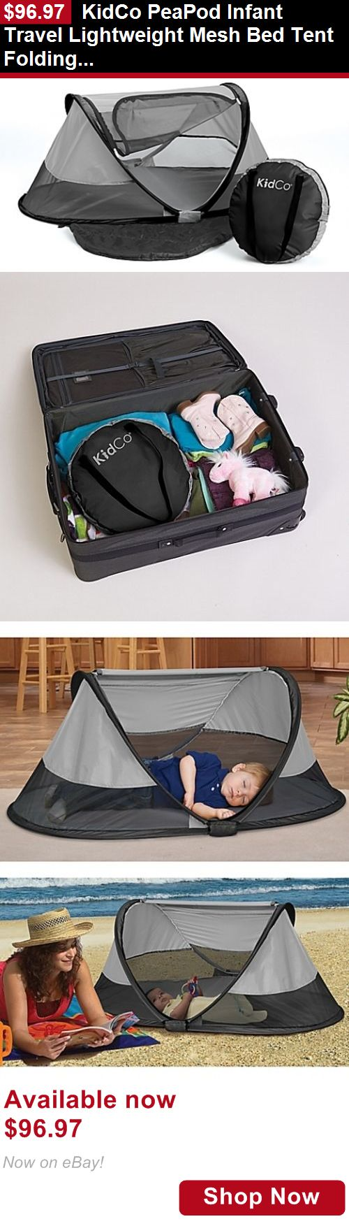 Baby play shades and tents: Kidco Peapod Infant Travel Lightweight Mesh Bed Tent Folding Sleeping Pad Carry BUY IT NOW ONLY: $96.97