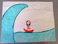 "Surf the Angry Sea - A CBT exercise where you have kids picture their anger as a wave an teach them to ""ride the wave"" instead of letting it crash over them and wipe them out."