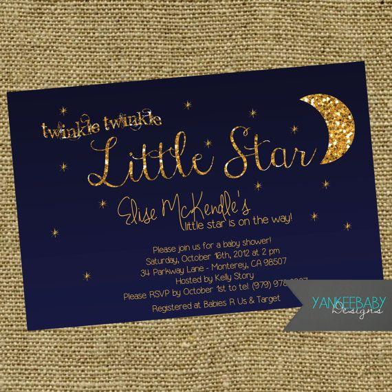 baby shower invitation babyshower moon and stars baby shower