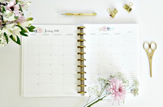 2016 Planner for Moms and Women Cute by BrilliantBusinessMom